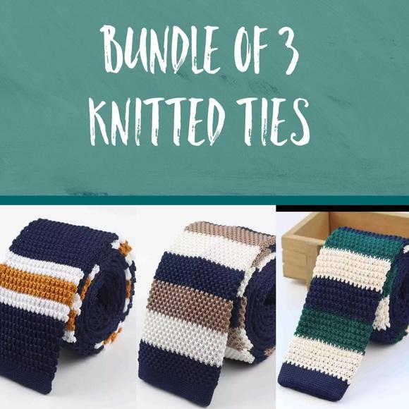 Other - Bundle of 3 Preppy Striped Ties - NWOT v4